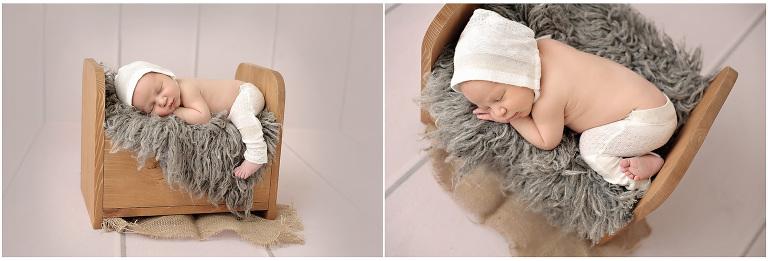 Sweet baby boy by newborn photographer Jessie Oberg
