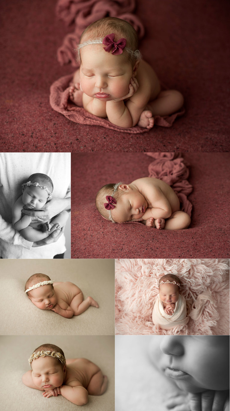 Black and white macro photography of newborn girl. Utah newborn photography